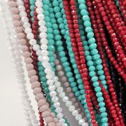 4mm Faceted glass rondelle glass beads